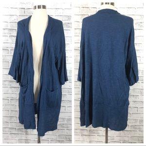 Eileen Fisher Blue Short Sleeve Cardigan